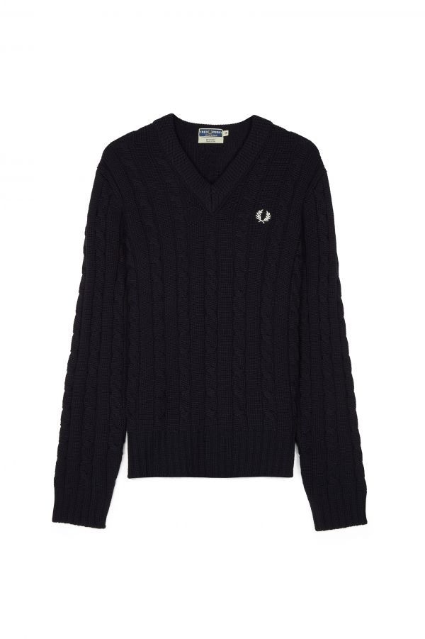 Reissues Cable Knit V-Neck Jumper