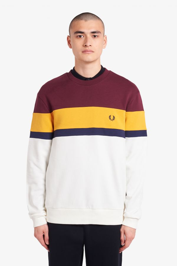 Sweatshirt color-block