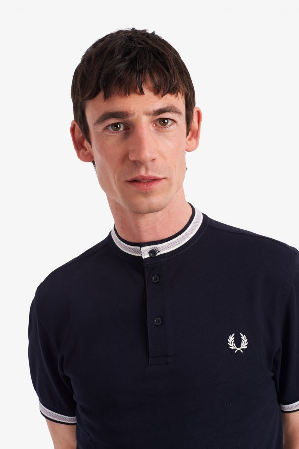 Textured Henley Polo Shirt