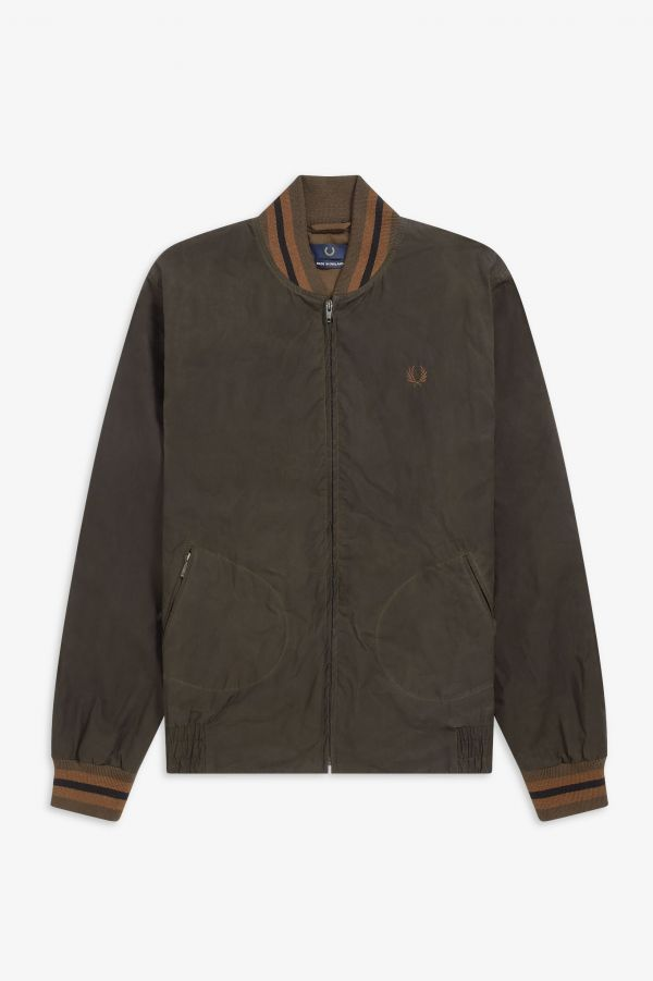 Made In England Waxed Bomber Jacket