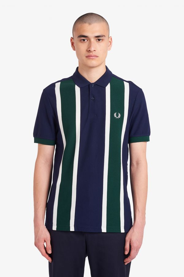Vertical Stripe Polo Shirt