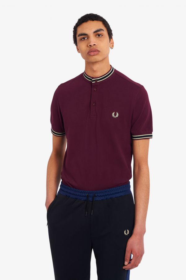 Tipped Henley Polo Shirt