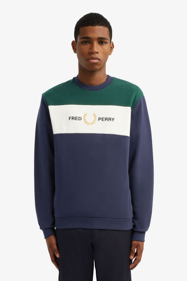 Embroidered Panel Sweatshirt