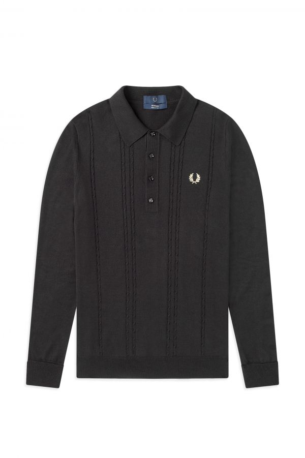 Reissues Long Sleeve Cable Knit Shirt