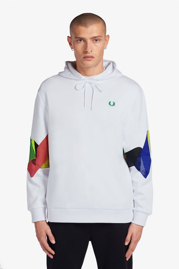 Abstract Sport Hooded Sweatshirt