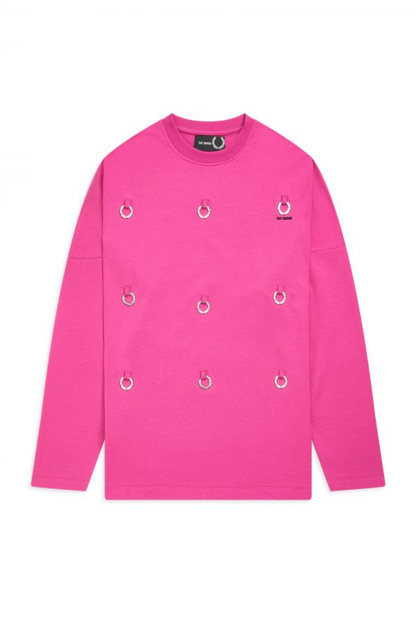 Raf Simons Sweatshirt mit Laurel Wreath Plakette