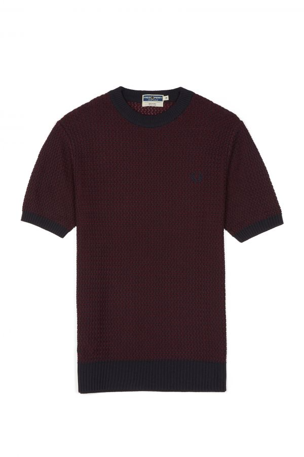 Reissues Two Colour Knitted Crew Neck