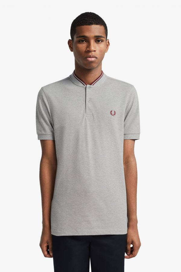 Bomber Collar Polo Shirt