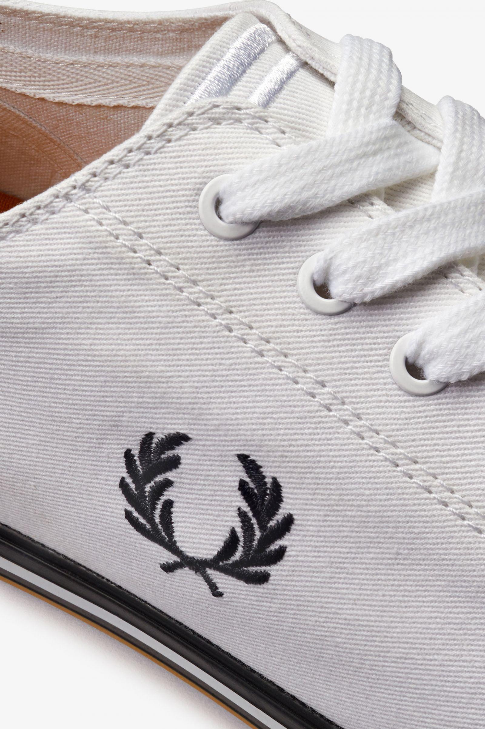 Kingston Twill - White   Men's Footwear