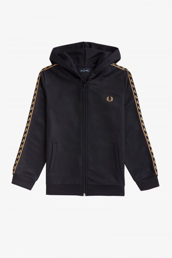 Gold Tape Hooded Track Jacket