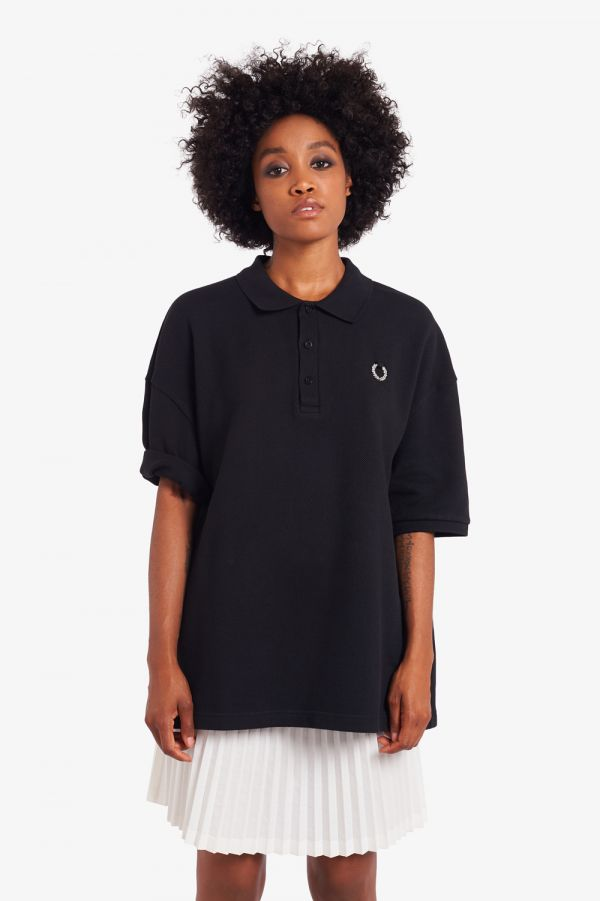 Raf Simons Oversized Printed Polo Shirt