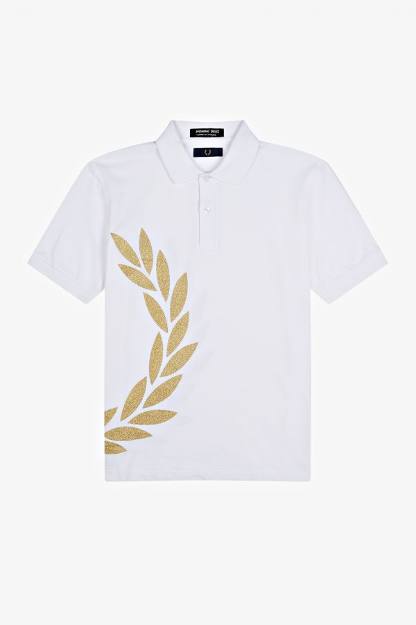 Laurel Wreath Print Polo Shirt
