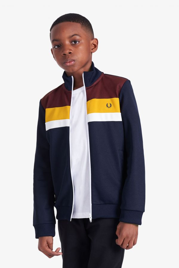 Kids Colour Block Track Jacket