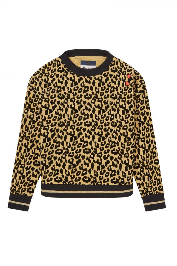 Amy Winehouse Leopard Print Sweatshirt