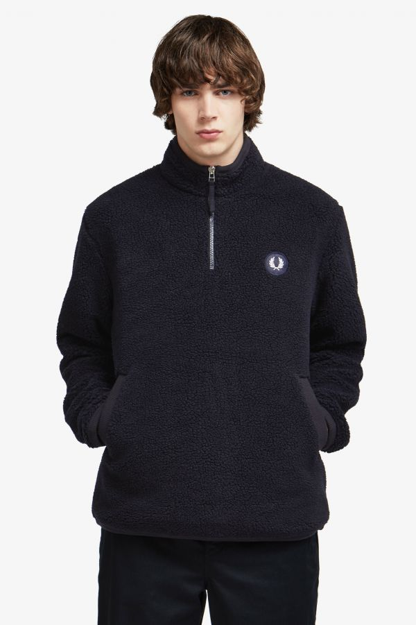 Borg Fleece Half-Zip Jacket