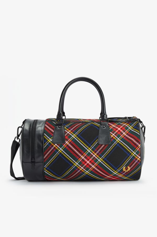 Tartan Barrel Bag