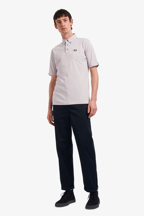 Button Down Collar Polo Shirt