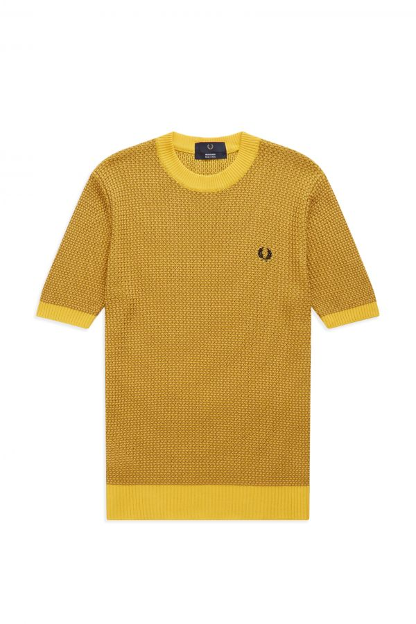 Reissues Two Colour Texture Knit Crew