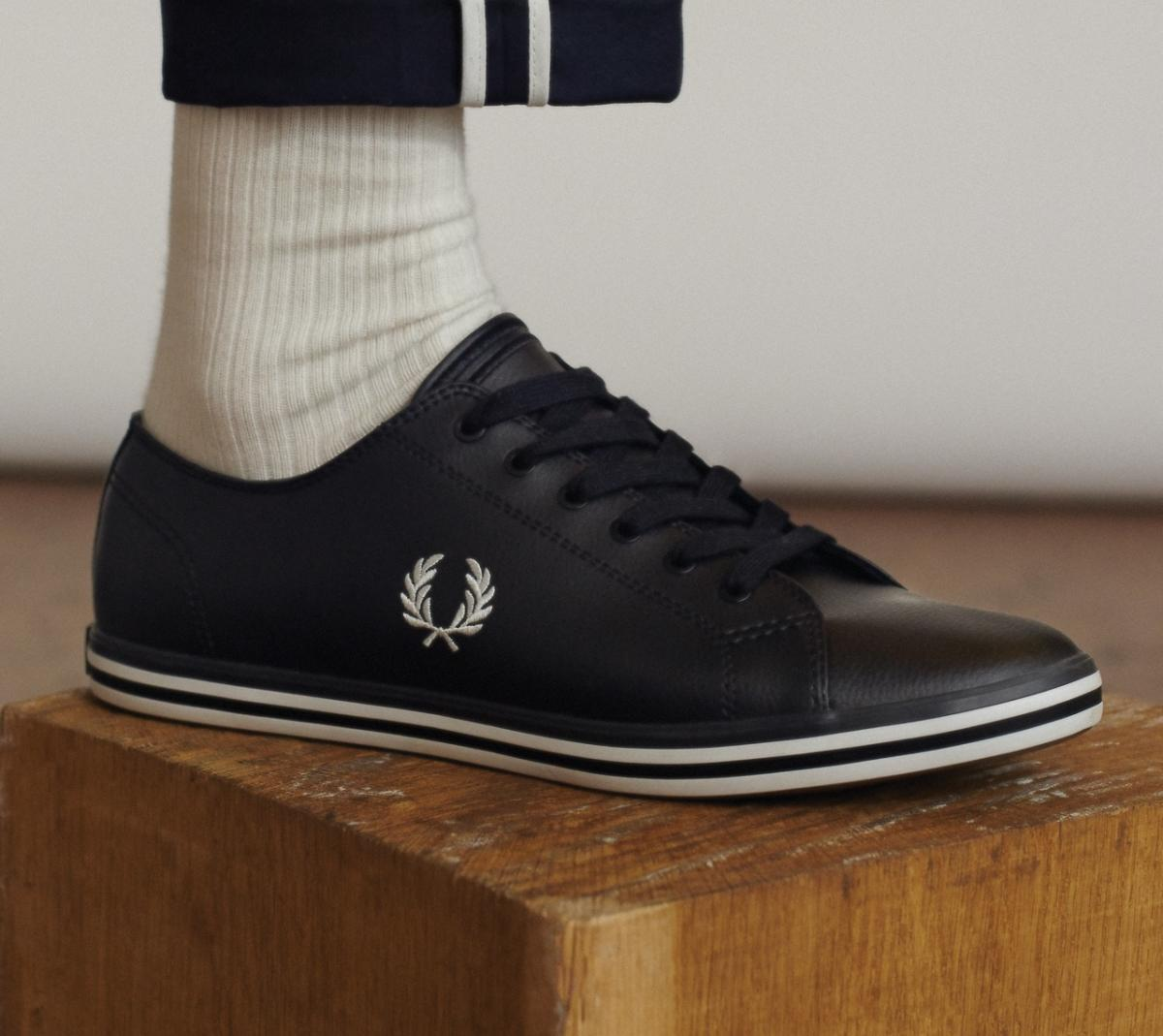 fred perry black shoes